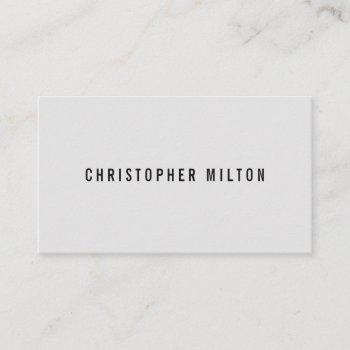 professional minimal black light grey consultant business card
