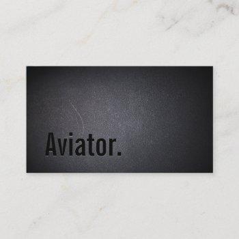professional minimalist aviator black business card