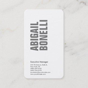 professional minimalist bold modern grey white business card