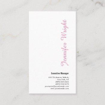 professional minimalist feminine plain elegant business card