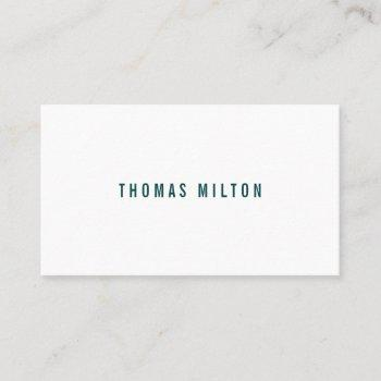 professional minimalist green white consultant business card