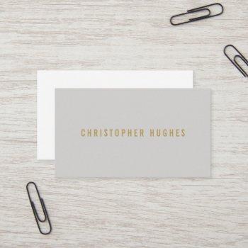 professional minimalist light grey consultant business card