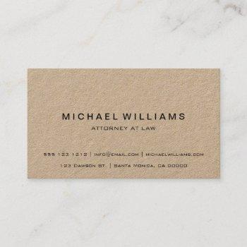 professional minimalist modern rustic kraft business card