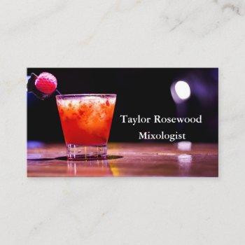 professional modern buriness cards bartender