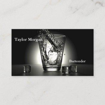 professional modern buriness cards bartender