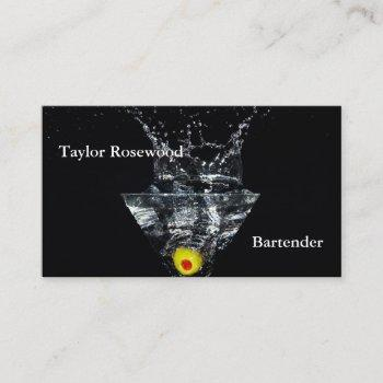 professional modern business cards bartender