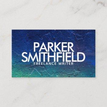 professional modern concrete texture business card