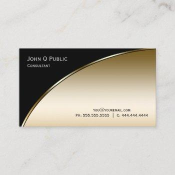 professional modern elegant black and gold business card