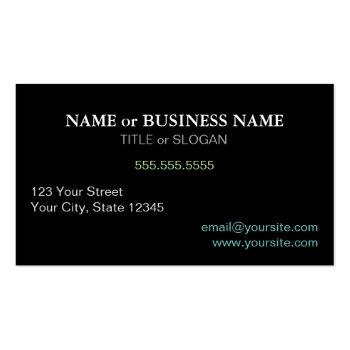 Small Professional Modern Elegant Cool Hypnosis Business Card Back View
