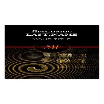 Small Professional Modern Elegant Cool Hypnosis Business Card Front View