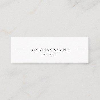 professional modern elegant simple trendy chic top mini business card