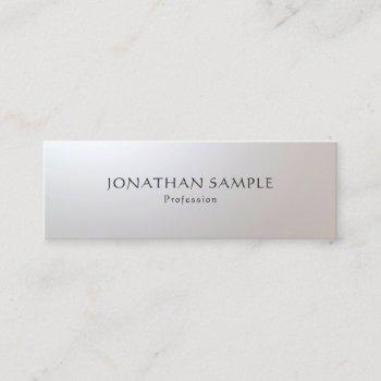 professional modern glamorous simple template mini business card