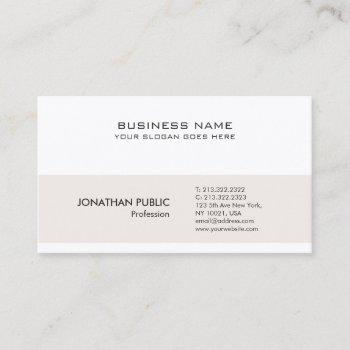 professional modern minimalistic sophisticated business card