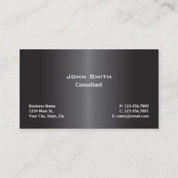 professional modern plain computer repair black business card