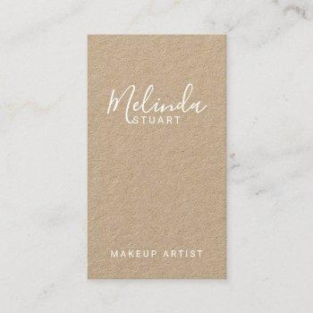 professional modern script kraft paper business card