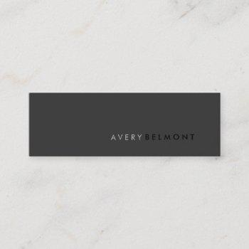 professional modern simple black minimalist mini business card