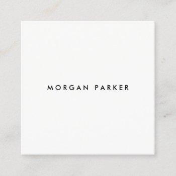 professional modern simple black white square square business card