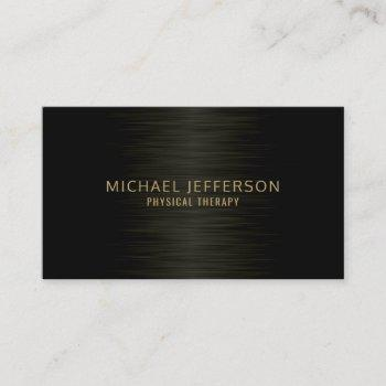 professional modern steel black business card
