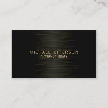 professional modern steel black business card