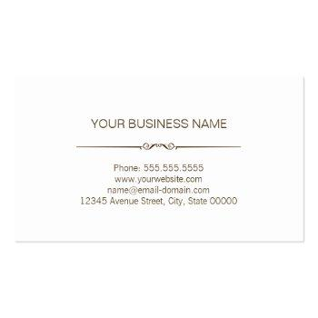Small Professional Modern Wood Grain Look Business Card Back View