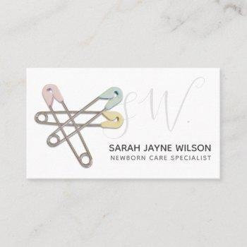 professional newborn care specialist business card