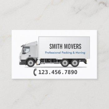 professional packing & moving business card