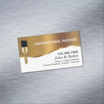 professional painter magnetic business card