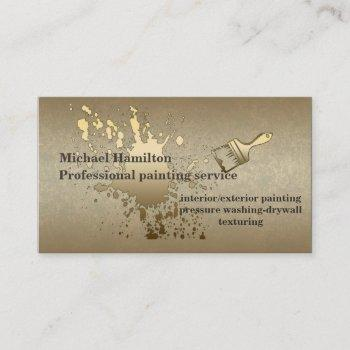 professional painting service business card