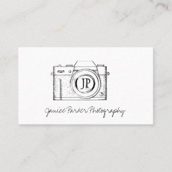 professional photography camera photographer business card