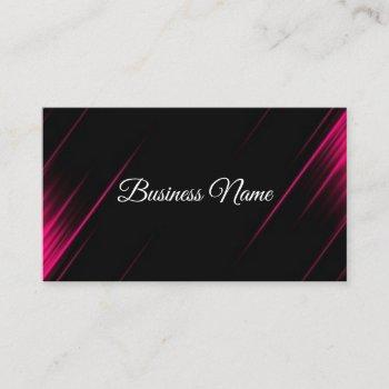 professional pink & black calligraphy consultant business card