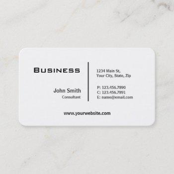 professional plain elegant modern rounded corners business card