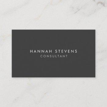 professional plain simple modern minimalist grey business card