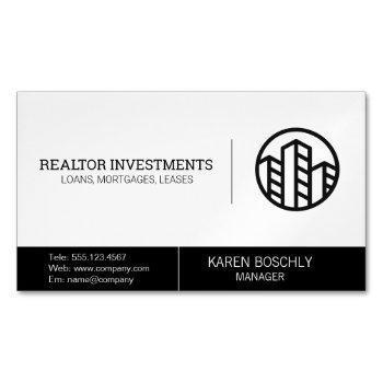 professional | realtor investor business card magnet