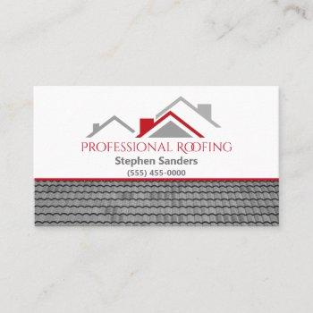 professional roofing construction company business card