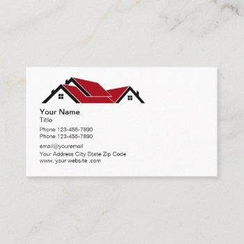 professional roofing logo business card