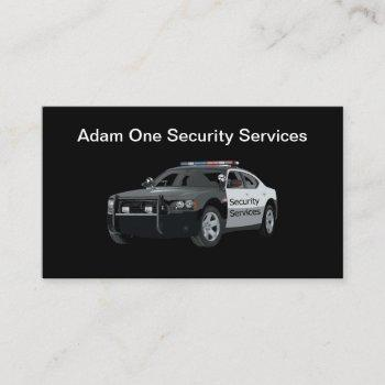 professional security services business card