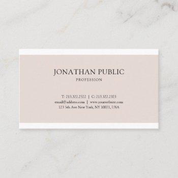 professional simple graphic design elegant plain business card
