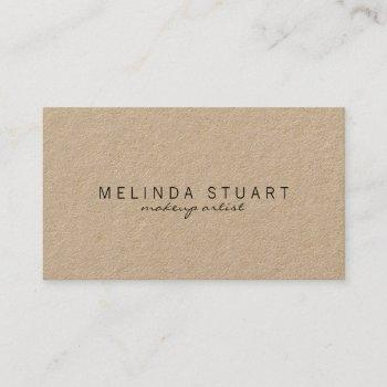 professional simple modern kraft paper business card