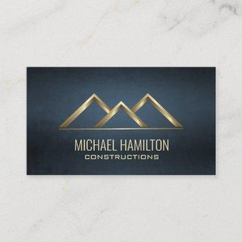 professional simple real estate construction logo business card