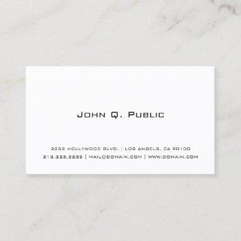professional simple white business card