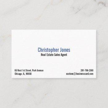 professional simple white elegant modern custom business card
