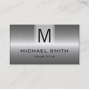 professional stainless steel metal monogram business card