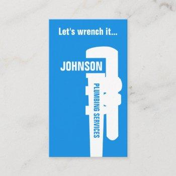 professional stand out plumber style business card