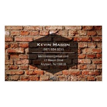 Small Professional Stone Masonry Business Card Design Back View