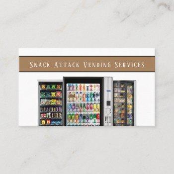 professional vending machine service business card