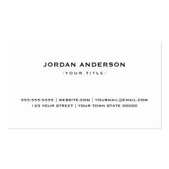 Small Professional White Or Any Color Custom Logo Business Card Back View