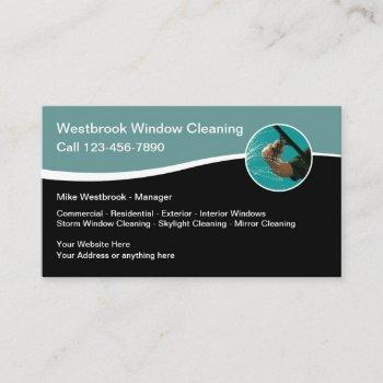 professional window cleaning service business card