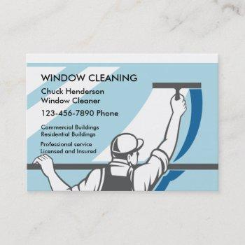 professional window washer business card