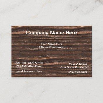 professional wood background business card