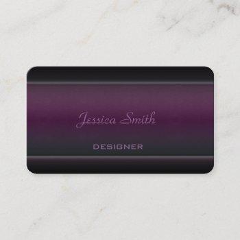 proffesional elegant modern velvet business card
